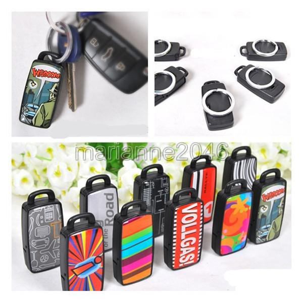 Wholesale-2Pcs/Lot Key Finder Locator Find Lost Car Chain Whistle Sound Control Keyring Seeker Remote Alarm