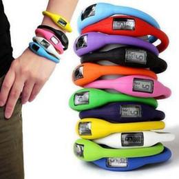 Wholesale Ion Rubber Watch - Wholesale-Wholesale 10pcs Silicone Rubber Jelly Ion Unisex Mens Womens Boys Girls Sports Bracelet Wrist Watches, LK032