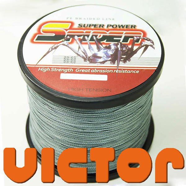 Wholesale-Free Shipping 100M Spider  10LB Multifilament Line Super Power Braid Fishing Line 100% PE Fiber Japan Material Grey