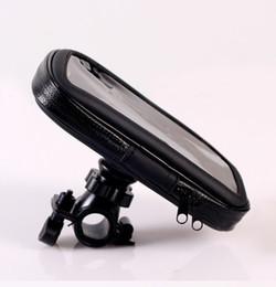 Wholesale Gps Satnav - Wholesale-Waterproof Motorcycle Bike Holder Bicycle Handlebar Mount Holder Stand Waterproof Case For GPS SATNAV Mobile Phone Free Shipping