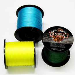 Wholesale Braided Kevlar - Wholesale- Super Strong 2015 fishing with lead core line 500M 40LB Army Green PE Multifilament kevlar fishing line Braided Fishing Line