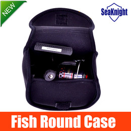Wholesale Round Fishing Reel - Wholesale-SeaKnight FISH ROUND CASE Spinning Reel Storage Bag Waterproof Lure Fishing Reel Cases Soft Material New 2015 Promotion