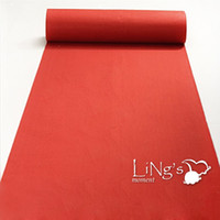 Wholesale Decoration Church - Wholesale-LiNg's 1x1.2meter (L x W) One-off Thin Red Long Runner Rug Aisle Carpet For Wedding Party Church Casino Decoration Free