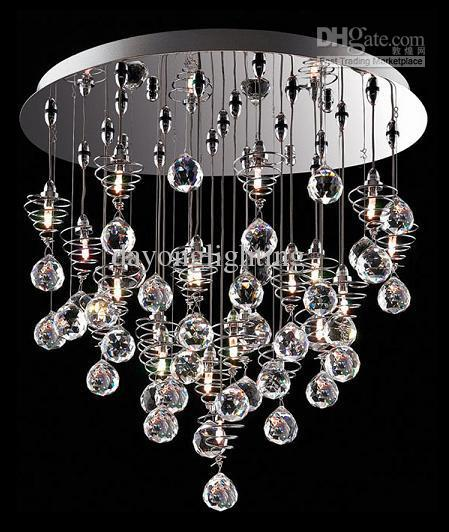 Crystal chandelier modern lamp glass ball lamp hanging lampdy1020 see larger image mozeypictures Images