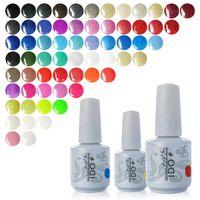 Wholesale Gel Nail Polish Ido - Wholesale-IDO 223 Colors (Any 6 Colors) 15ml Primer Foundation Top Coat Led UV Color Gel Nail Polish Soak Off Nail Gel