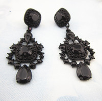 Wholesale Cheap Designer Jewelry For Women - Wholesale-High Quality New Fashion Black Resin Earrings Jewelry Luxury Statement Earring Latest Cheap Vintage Designer Earrings For Women