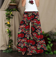 Wholesale Linen Fabric Trousers - Wholesale-new 2015 Better fabric Spring linen pants elastic waist wide leg pants casual loose bell-bottom trousers