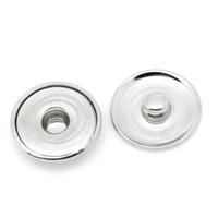 Wholesale press snap buttons - Wholesale-100PCs Round Snap Press Buttons Fit Bracelet Necklace Jewelry DIY 18mm Dia