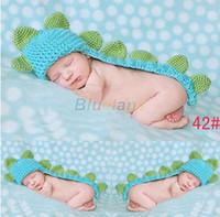 bebeğim yeni doğan fotoğraflar toptan satış-Toptan-Birçok tarzı Sevimli Bebek Kız Erkek Newborn-12M Örgü Tığ Handmake Kostüm Fotoğraf Prop Kıyafetler bebek cosplay giysiler