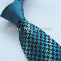 Wholesale Necktie Contrasting Knot - Wholesale-Yibei Mens ties 100% Silk Tie Green Knot Contrast Green With Black Geometric Stripes Necktie WITH DUPONT TEFLON FABRIC PROTECTOR