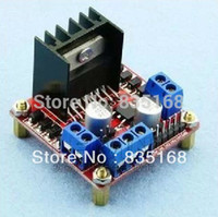 Wholesale L298n Stepper Motor Driver - Wholesale-L298N motor driver board MODULE L298 Smart Robot driver Dual H Bridge DC stepper motor for Arduino