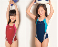 Wholesale Boys Swimmers - Wholesale-Kids Swimmer girls bathing suit infantil swimwear for girls girls bathers children one pieces lovely girl swimsuit 3-14 age