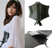 Wholesale Corset Genuine - Wholesale-selljimshop Womens Leather Ladies Wrap around Tie Corset Cinch Waist Wide Belt Gift jimshopping