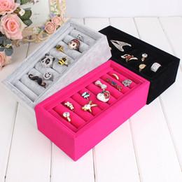 $enCountryForm.capitalKeyWord Australia - Wholesale-Hot selling-Black & Red & Gray Jewelry Display Rings Organizer Show Case Holder Box Bracelet receive box Free shipping