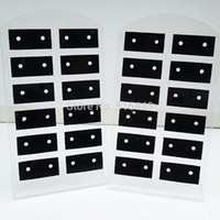 Wholesale Card Rack Holders - Wholesale-10pcs 12Pairs Jewelry Earring Displays Stand Stud Earing Holder Earring Display Rack Earring Packing Card Acrylic Earring cards
