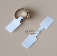 Wholesale Jewelry Price Stickers - Wholesale-Wholesale 200pcs Jewelry Cards, 1.2x6cm White Paper Price Tag Labels Pricing Tags Ring Sticker Ring Hangtag