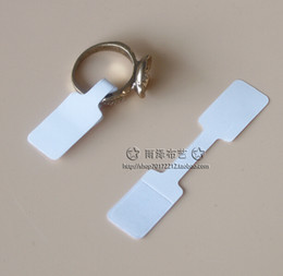 Wholesale White Sticker Paper Label - Wholesale-Wholesale 200pcs Jewelry Cards, 1.2x6cm White Paper Price Tag Labels Pricing Tags Ring Sticker Ring Hangtag