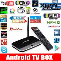 Wholesale Smart Tv Upgrade - Wholesale-Upgrade edition CS918 Android 4.4 TV Box Player Quad Core 1GB 8GB Mini PC bluetooth Smart TV Media Player Set Top Box 1080P