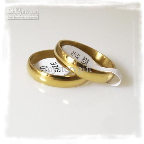 4mm Fashion Gold Plate Polishing Stainless Steel Rings