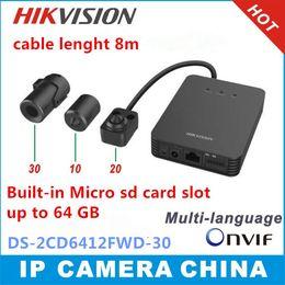 Canada En gros-Hikvision DS-2CD6412FWD firmware multilingue 1.3MP WDR tube caméra réseau support audio / alarme IO support magasin de carte sd supplier wholesale camera stores Offre