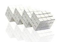 Wholesale 216 Magnets - Wholesale-Free shipping 4mm*216 silver magic magnetic bucky cubes square bucky ball magnets neocube cubes table toys