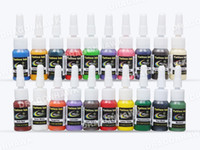 Wholesale Wholesale Tattoo Starter Kits - Wholesale-Beginner tattoo starter kits 2 guns machines 20 ink sets power supply needle pedal tips D175GD