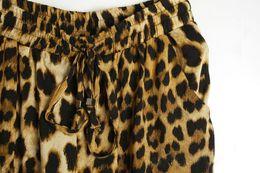 Wholesale Leopard Harem Lady - Wholesale-2015 New Celebrity Style Fashion Casual Loose Fit Leopard Print Women Harem Pants Lady Trousers #C0703