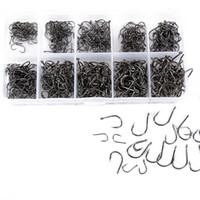 klauenanker großhandel-Nadel-Fischen-Haken 500pcs 10 Größen sortierte scharfe Köder-Köder-Gerät-Kasten