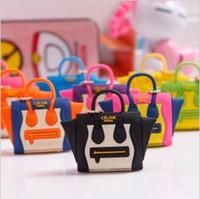 Wholesale Handbag Dust Plug - Wholesale-Best selling lovely handbag dustproof plug mini satchel shoulder bag purse dust plug the headphone jack plug 10pcs
