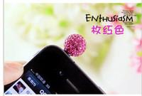 Wholesale Shamballa Phone - Wholesale-Min order is $10(mix order)CLAY Crystal 12mm bead Dust Proof Plug Cap Shamballa Cat Anti Dust Plug Mobile cell phone rose