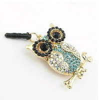 Wholesale Dust Plugs For I Phones - Wholesale-MINI ORDER USD10(mixed) Free shipping Wholesales gold plated owl Dust Plug Chain  Mobile phone straps accessories for I PHONE