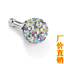 Wholesale Rhinestone Ball Dust - Wholesale-Free shipping,10mm rhinestone ball dust polymer clay dust plug dustproof plug rhinestone plug earphones