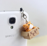 Wholesale Kawaii Phone Plugs - Wholesale-New arrival kpop cute cat dust plug 4 color for cell phone brand designer fashion kawaii earphone cap Wholesale free shipping