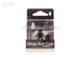 Wholesale Ear Pluggy - Wholesale-Ninja Anti Dust Plug CellPhone Accessories Dustproof Ear Cap Pluggy With Retail Package Cheap Price