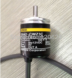 Wholesale Sensor Omron - Wholesale-E6A2-CWZ3C omron incremental rotary encoder Compact Encoder E6A2 choose Resolution P R 5 VDC free shipping