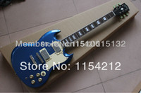 Wholesale Sky Blue Guitar - Wholesale-SG Model G400 Electric Guitar Best Selling Blue color Musical instruments