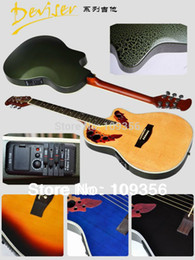 Wholesale Semi Acoustic - Wholesale-round back ovation electric acoustic guitar & free shipping free hardcase