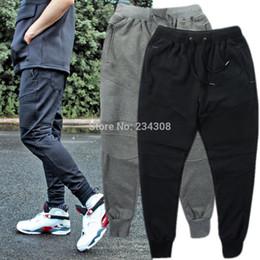 Wholesale Drop Jeans Man - Wholesale-Casual Hip hop dance drop croth pants Skinny outdoor sweatpants Joggers slim fit trousers plain man jeans for spring autumn