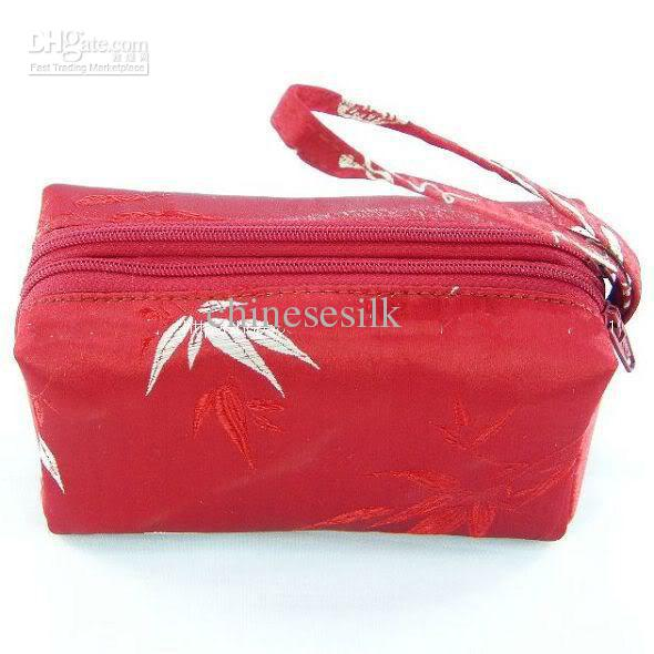 Small Clutch Bags With Wrist Strap Double Zip Purse Women Silk ...