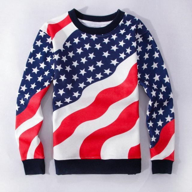 Men's American Flag Running Shirt um52CgG