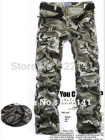 Wholesale Hunting Outwear - Wholesale-Free Shipping 7 Colors 9 Sizes men's hunting pants camping pants pocket Camouflage pants Camping pants for travel outwear