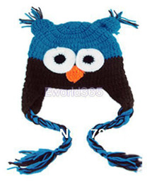 Wholesale Black Owl Crochet Hat - Wholesale-2015 Winter Crochet Caps Lovely Colorful Knitted Owl Beanie Baby Toddler Child Kocotree Handmade Warm Hat for Xmas