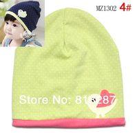 Wholesale Crochet Bird Hats - Wholesale-Free ship(1 pcs lot) Babys hat, head cap,with cute little bird pattern ,baby dot cotton hats caps for 0-12M,spring&autumn