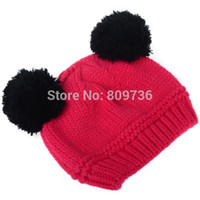 Wholesale Crochet Animal Hats For Sale - Wholesale-1PC Hot Sale Lovely Animal Panda Baby Hats Knit Caps Kids Boy Girl Crochet Beanie Hats Winter Cap For Children Warm Drop Free