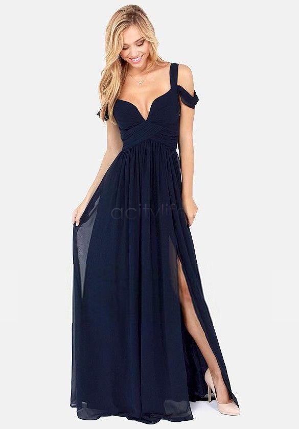 85e06cf29 Al por mayor-2015 mujeres del vestido ocasional verano estilo griego  vestido largo y elegante de la gasa pliegues profundo con cuello en v  fiesta Sexy ...
