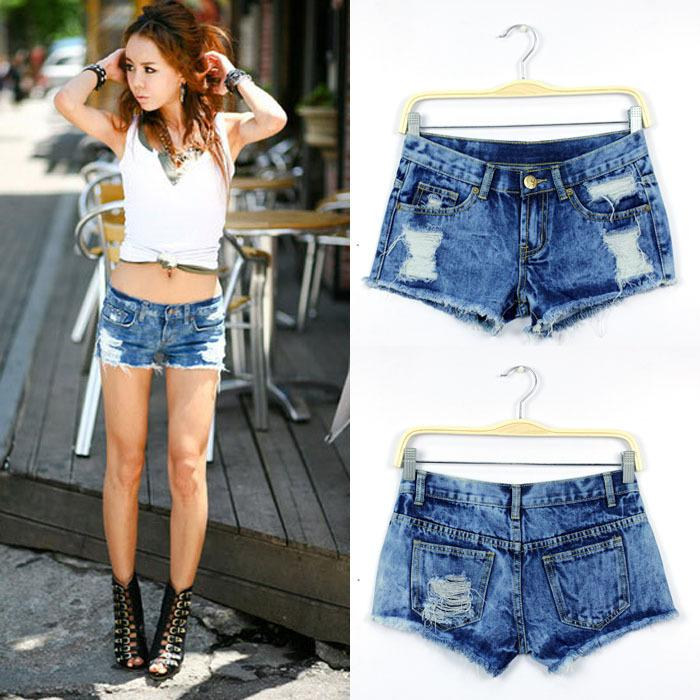 2017 Wholesale Women Denim Shorts 2015 Summer Style Sexy Snowflake ...