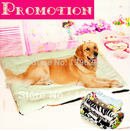 grande maison pour animaux de compagnie Promotion Dog Bed Blanket-Big gros Pet Dog Quilt Coton Pad Mat Pet Kennel grand coussin Dog House Cat, S, M, L Livraison gratuite