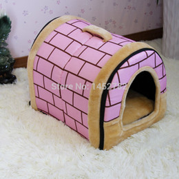 Wholesale Doghouse Free Shipping - Wholesale-Free Shipping Doghouse New 2015 Pet Product Pet Beds Soft Dog House Product Animal Pet House Hot Sales Dog Products