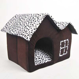 popular designer dog bed luxury dairy cow pet dog cat house double roof dog house kennel