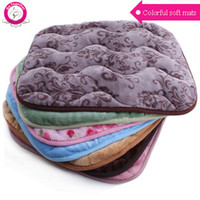 All'ingrosso di alta qualità del cotone Coperta Fleece Pet colorato Stampa Dog Bed Mat Primavera Autunno caldo molle Grande Dog House rilievi S / M / L